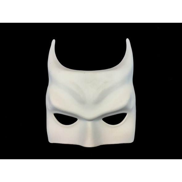 Paint Your Own Batman Inspired White Half Mask Costume Decor Crafts Bat DIY