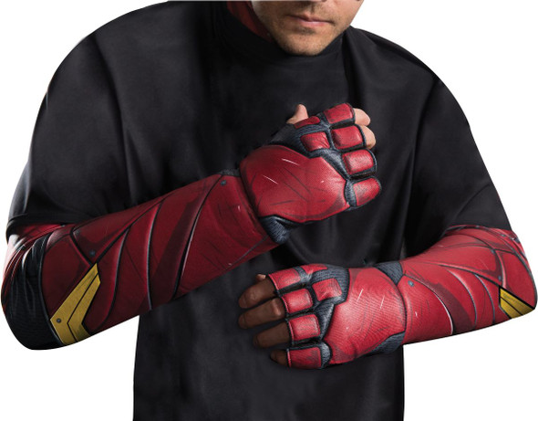 Justice League The Flash Adult Men's Gloves DC Comics Costume Accessory One Size