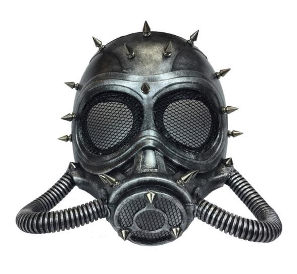 Silver Steampunk Submarine Fancy Half Mask Spikes Adult Masquerade Scuba Diver