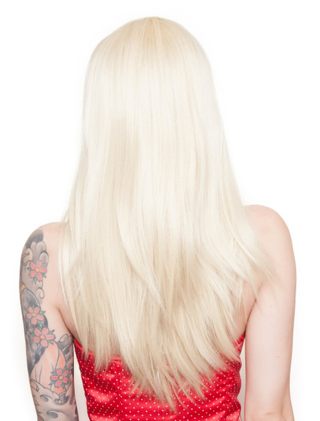 Rockstar Cosplay Blonde Pin-up Long Straight Costume Wig Women's Retro Stylable