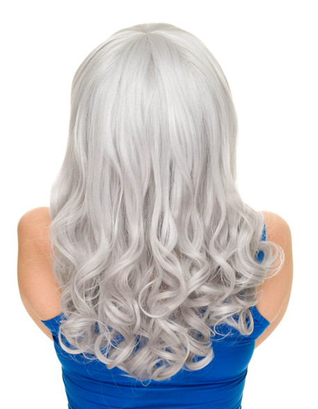 Rockstar Cosplay Pin-up Curly Costume Wig Women's Silver Bombshell Girl Stylable