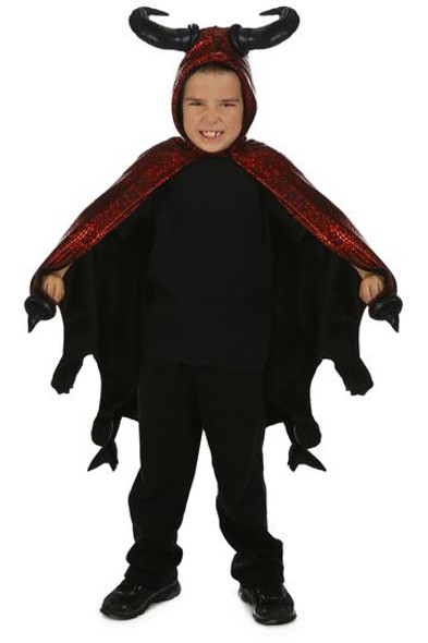 Princess Paradise Devil Costume Cape Horns Red Black Diablo Medium Child 4-8 New