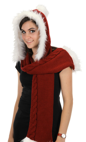 Santa Knit Hood
