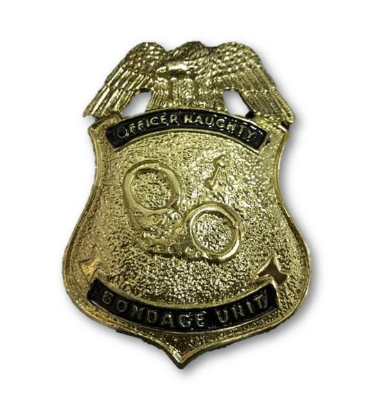 Officer Naughty Bondage Unit Golden Metal Police Badge Dirty Cop Novelty Item