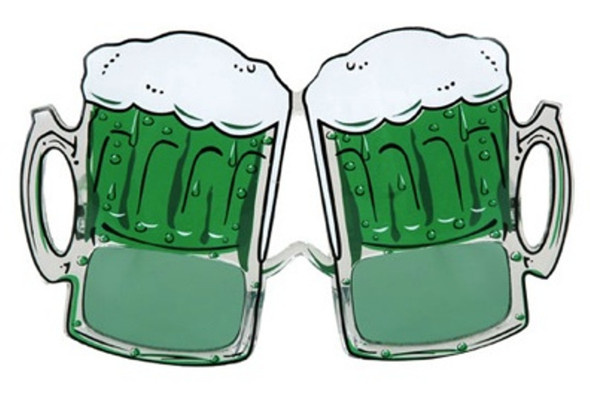 Green Beer Mugs Sunglasses St. Pat's Patrick's Glasses Costume Accessory Eyewear