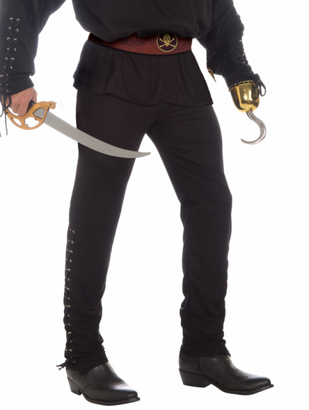 Buccaneer Pirate Black Pants Costume Adult Men Std Halloween Medieval Colonial