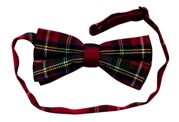 Red Scottish Plaid Bow Tie Halloween Adult Costume Accessory Bowtie Adjustable