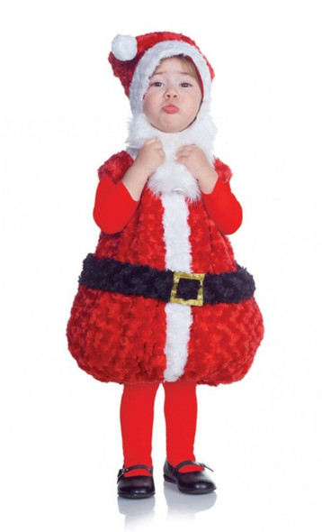 Underwraps Belly Babies Baby Santa Holiday Red Plush Costume Toddler Child Size