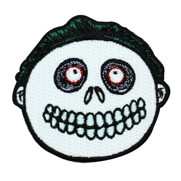 Disney Nightmare Before Xmas Barrel Skeleton Mask Kid Patch Iron-On Applique