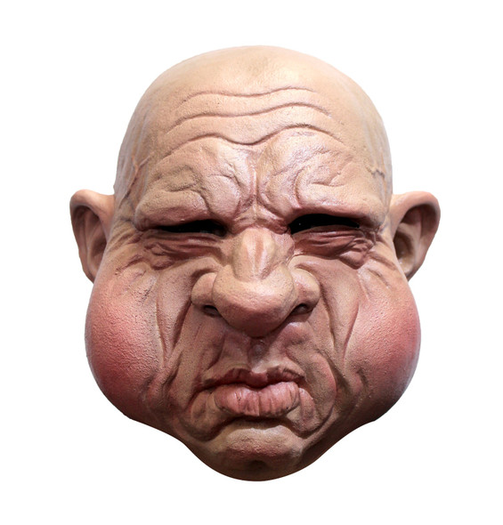 Funny Constipated Face Adult Latex Halloween Mask Man Pooping Push Forcing