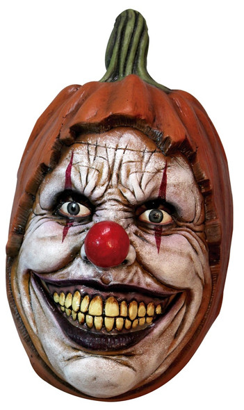 Carving Pumpkin Creepy Clown Face Adult Overhead Latex Mask Horror Halloween