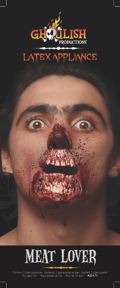 Meat Lover Latex Appliance Adult Scary Halloween Zombie Prosthetic Kit Make-up