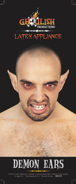Demon Ears Latex Appliance Halloween Fairy Elf Hobbit Prosthetic Application
