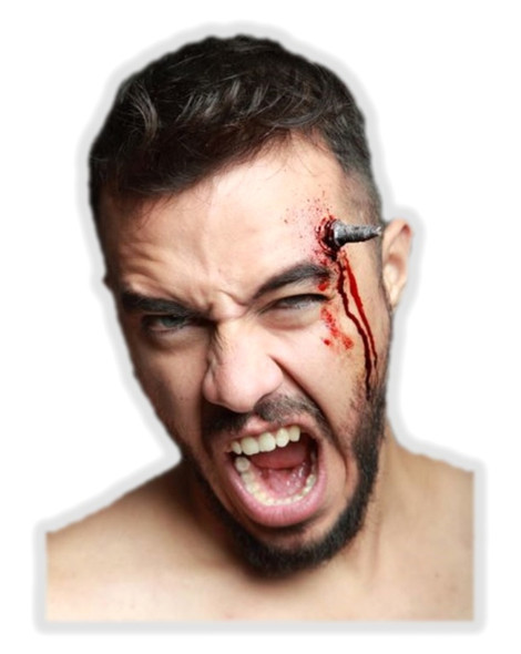 Spark Plug Head Injury Latex Appliance Application Halloween Prosthetic Make-up