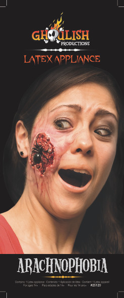 Arachnophobia Latex Appliance Halloween Spider Infected Wound Prosthetic Make-up
