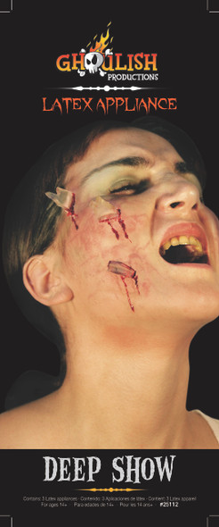 Deep Show Latex Appliance Halloween Shattered Broken Glass Prosthetic Make-up