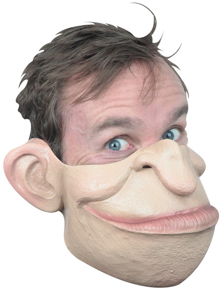Ghoulish Productions Funny Mouthful Half Latex Mask Adult Halloween Accessory