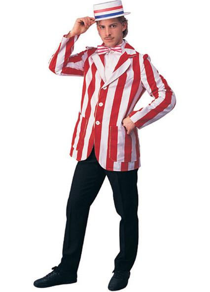 Roaring 20's Costume Blazer Men's Jacket Barbershop Quartet Red N' White SM-XL
