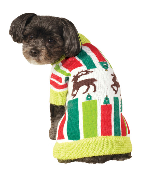 Rubie's Pet Shop Ugly Christmas Sweater For Pets Knitted Reindeer Funny SM-LG