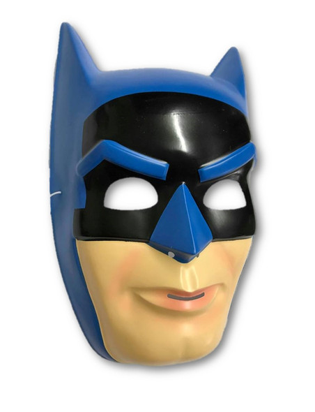 Classic DC Blue Batman PVC Mask Licensed Child's Halloween Costume Accessory
