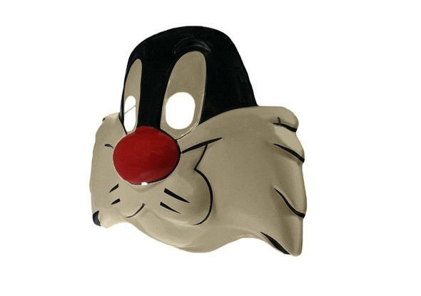 Looney Tunes Sylvester Cat Vintage PVC Half Mask Classic Cartoon Child Accessory