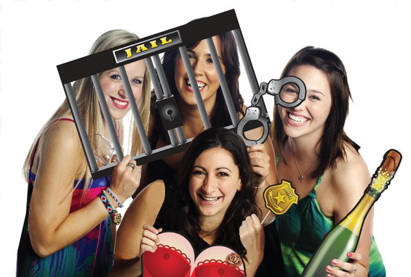Funny Bad Bad Girl Photo Prop Set Bachelorette Party Supplies Favors Games Jail