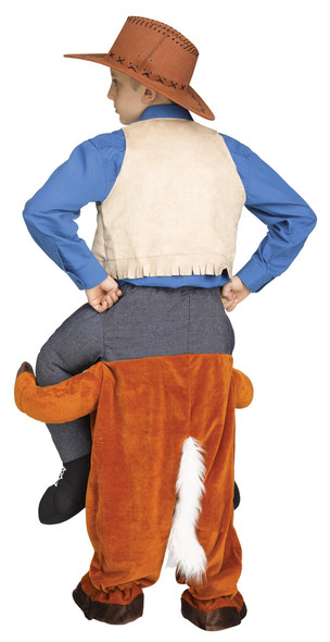 Carry Me Horse Child Costume Riding Cowboy  Rodeo Funny Western Clown to Size 12