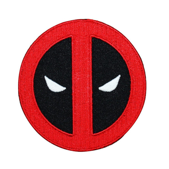 Marvel Comics Deadpool Face Logo Patch Antihero Crest Superhero IronOn Applique