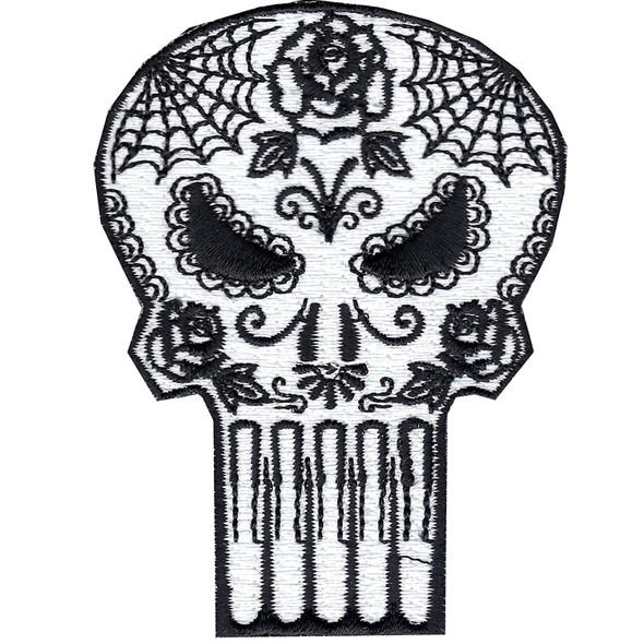 Marvel Comics Punisher Retro Sugar Skull Patch Superhero Iron On Applique