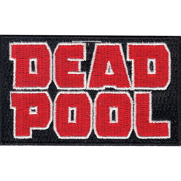 Marvel Comics Deadpool Logo Patch Antihero Crest Superhero IronOn Applique