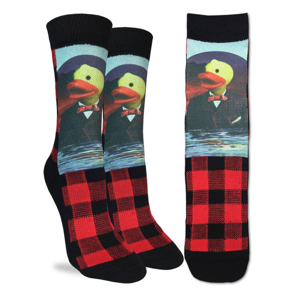 Good Luck Sock Dapper Rubber Duck Socks Active Fit Adult Shoe Size 5-9 Canada