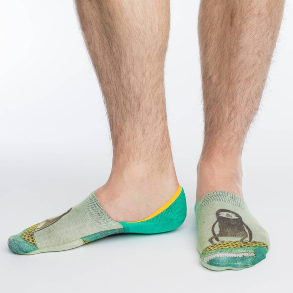 Good Luck Sock Surfing Sloth No Show Socks Adult Shoe Size 7-12 Surf Waves Cute