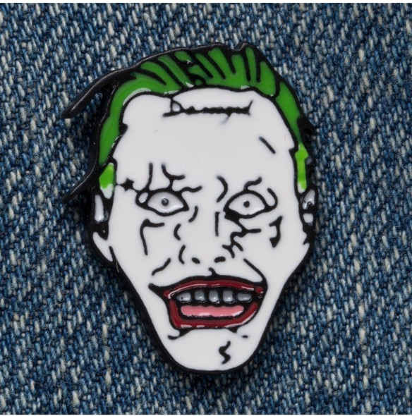 Bioworld DC Comics Suicide Squad Joker Head Lapel Pin Brooch Costume Jewelry