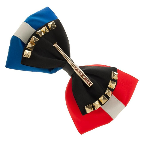 Suicide Squad Harley Quinn Hair Bow Clip Good Night Baseball Bat Red Blue White