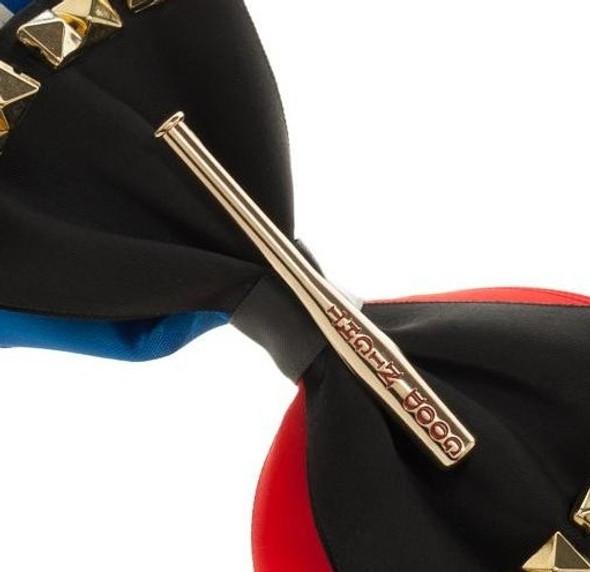 Suicide Squad Harley Quinn Hair Bow Clip Good Night Baseball Bat Red Blue White
