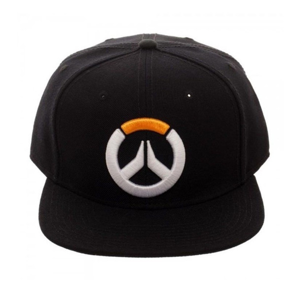 Blizzard Overwatch Snapback Video Game Black Baseball Hat Adjustable Cap Adult