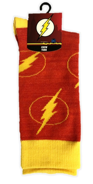 Justice League Flash Crew Socks Lightening Bolt Adult Men Costume Accessory