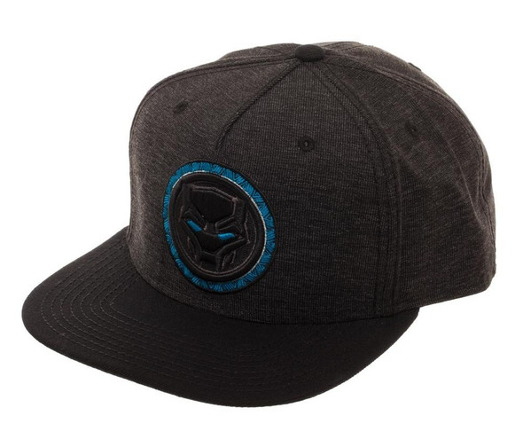Marvel Comics Black Panther Snapback Grey Baseball Hat Adjustable Cap Adult