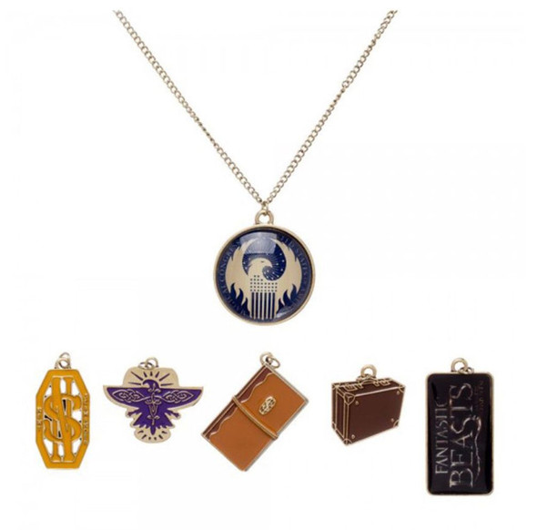 Fantastic Beast and  Where to Find Them Multi Charm Necklace Pendant Licensed