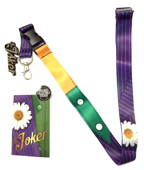 DC Comics Joker Suit-Up Lanyard Necklace Detachable ID Holder Keychain