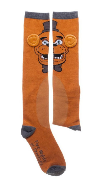 Five Nights at Freddy's Fazbear Knee High Socks Scary Video Game Adult 5-10