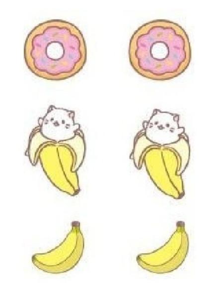 Crunchyroll Bananya Stud Earrings Set Costume Jewelry Cat Banana Anime 3/PK