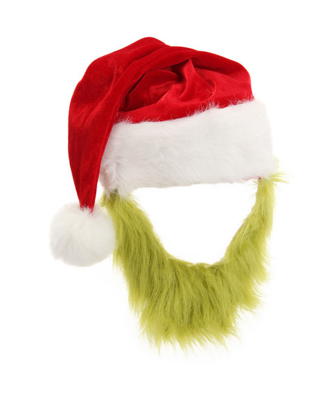 The Grinch Plush Hat with Beard