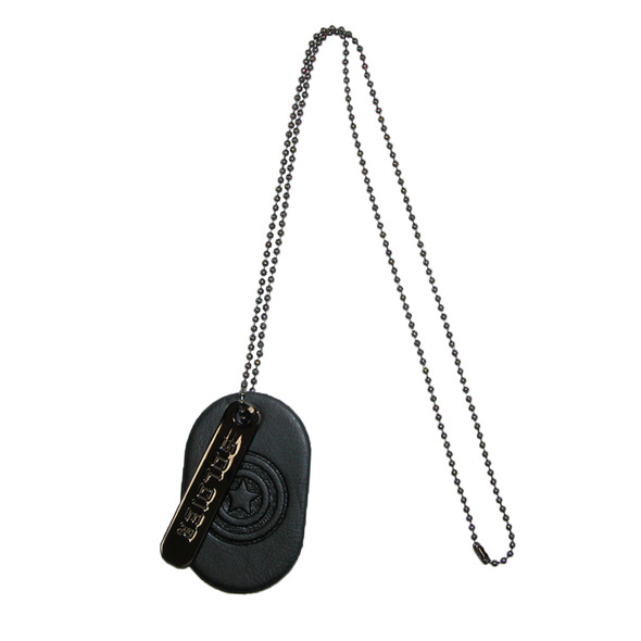 Marvel Captain America PU Metal Dog Tag Soldier Necklace Black Costume Jewelry
