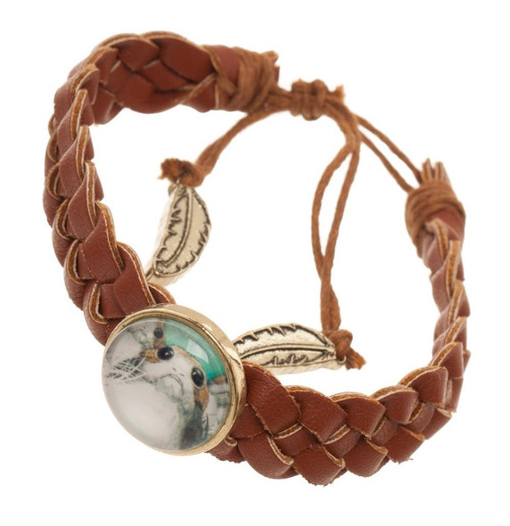 Star Wars Episode 8 Porg Braided PU Bracelet Costume Jewelry Brown The Last Jedi