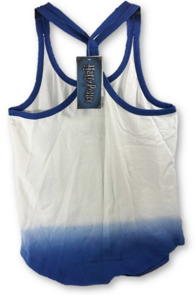 Harry Potter Platform 9 3/4 Dip Dye Strappy Racerback Junior Tank Top Small Blue