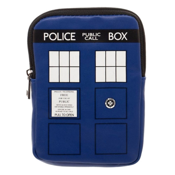 Doctor Who Tardis Junior Coin Pouch Money Bag Blue Purse Dr. Call Box Licensed