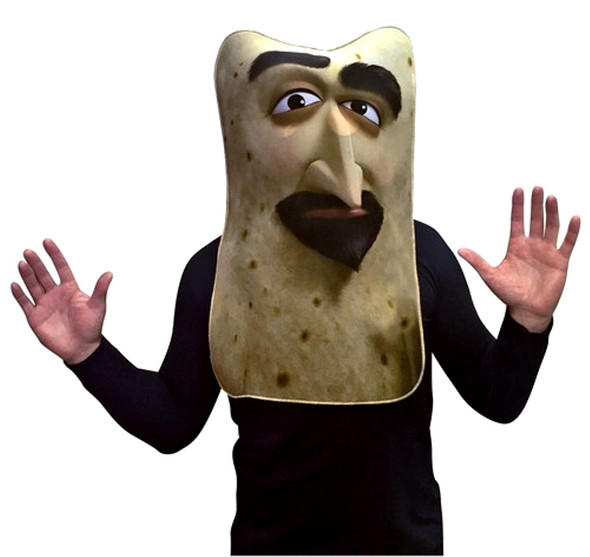 Sausage Party Lavash Mask Adult Flatbread Food Character Costume Party Accessory