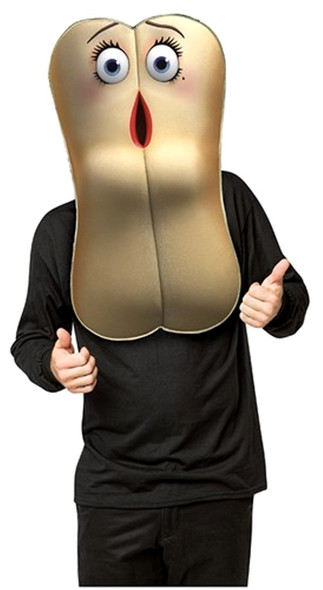 Sausage Party Brenda Mask Adult Hot Dog Bun Food Character Costume Accessory