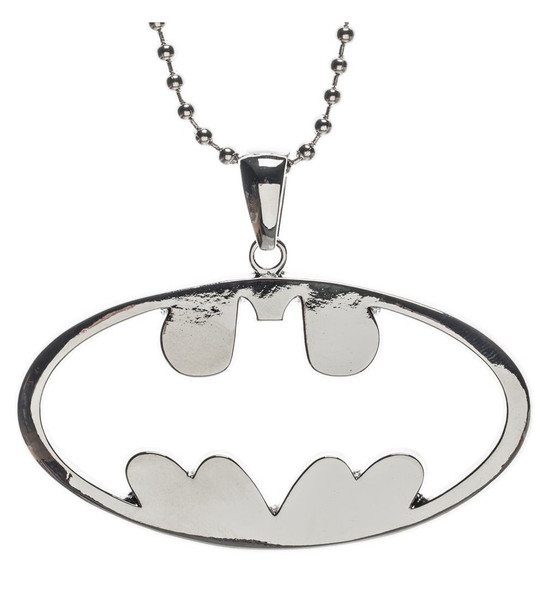 DC Comics Classic Batman Cutout Logo Chain Necklace Costume Jewelry